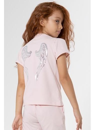Colorinas Melek Kanatlı Tshirt Angel Pembe Pembe